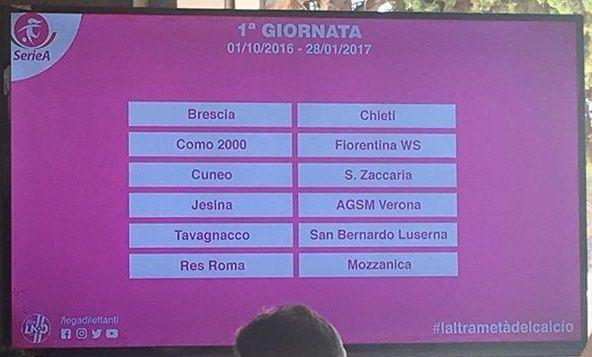 Calendario Serie B Femminile.Calcio Femminile Svelati Al Foro Italico Di Roma I