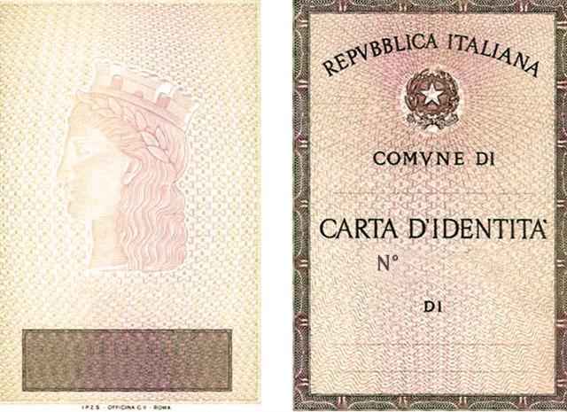 Risultato immagini per carta identità
