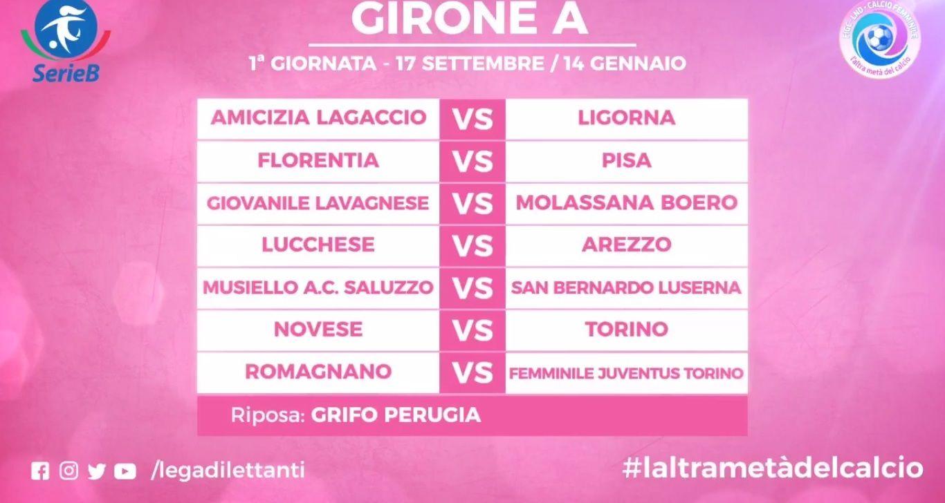 Calendario Calcio Femminile Serie B.Serie B Femminile Ufficiali I Calendari Al Debutto E