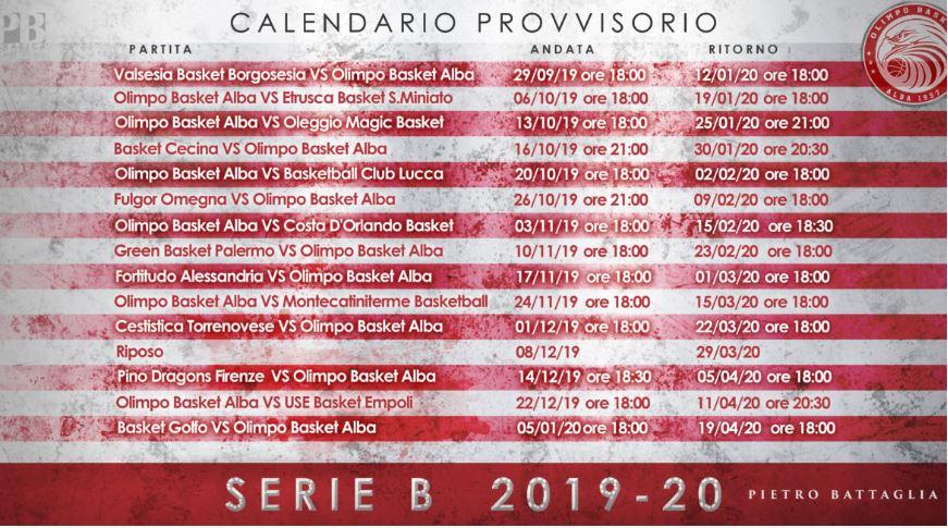 Calendario Serie B 2020 20.Olimpo Basket Alba Serie B Nuovo Girone E Nuove Sfide Dal