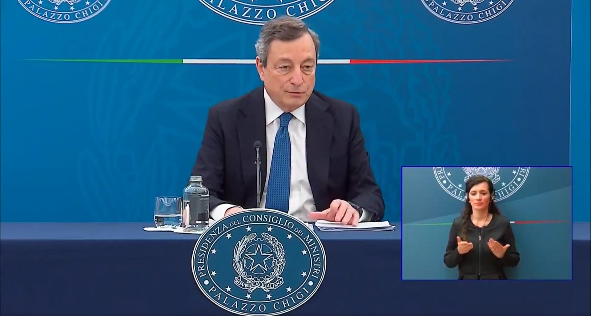 Nuovo decreto Draghi, niente zone gialle fino al 30 aprile